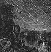 Leonid Meteor Shower, 1833 Art Print by Granger