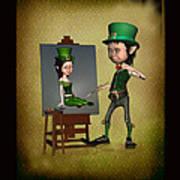 Leprechaun Painter Art Print