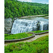 Letchworth Upper Falls Art Print