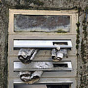 Letterbox With Old Newspapers Art Print by Matthias Hauser