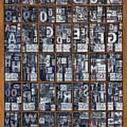 Letterpress Alphabet Art Print