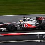 Lewis Hamilton Silverstone 2011 Art Print