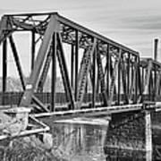 Lewiston-auburn Railroad Bridge Art Print