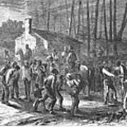 Liberating Slaves, 1864 Art Print