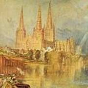 Lichfield Art Print by Joseph Mallord William Turner