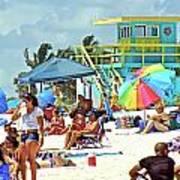 Life Is A Beach Art Print by Dieter  Lesche
