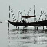 Life On Lake Tonle Sap  Art Print