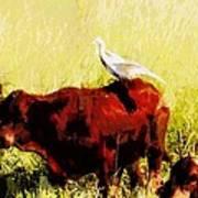 Life On The Farm V4 Art Print