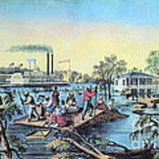 Life On The Mississippi, 1868 Art Print by Photo Researchers