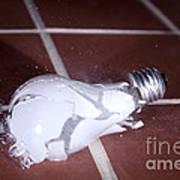 Light Bulb Smashing Art Print