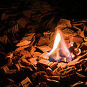 Light Of Fire Creates Coziness ... Art Print