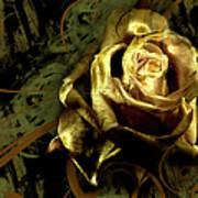 Light Painted Rose Art Print