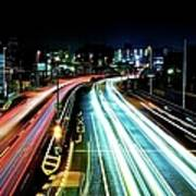 Light Trails Art Print by Photo by ball1515