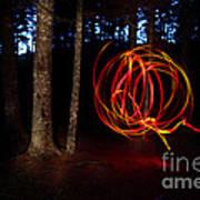 Light Writing In Woods Art Print