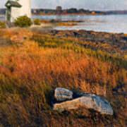 Lighthouse At Dawn Art Print