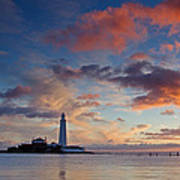 Lighthouse At Sunrise Art Print