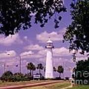 Lighthouse In Biloxi Mississippi Art Print