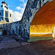 Lighthouse In Fort El Morro Art Print