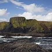 Lighthouse On Coastal Cliff Art Print
