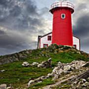 Lighthouse On Hill Art Print
