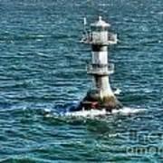 Lighthouse On The Blue Sea Art Print