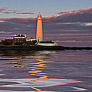 Lighthouse Reflection Art Print
