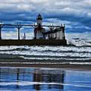 Lighthouse Reflections Art Print