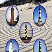 Lighthouses Of The Outer Banks Art Print