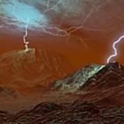 Lightning On Venus, Artwork Art Print