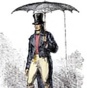 Lightning Rod Umbrella Art Print