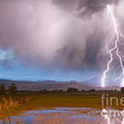 Lightning Striking Longs Peak Foothills 6 Art Print