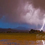 Lightning Striking Longs Peak Foothills 8 Art Print