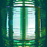 Lightouse Lantern At Portland Lighthouse Art Print