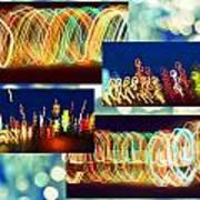 Lightshow Collage Art Print