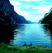 Ligth Fjord Norway Art Print