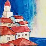 Ligurian Coaast Art Print by Regina Ammerman