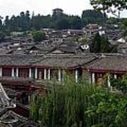 Lijiang Rooftops Art Print