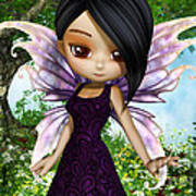 Lil Fairy Princess Art Print
