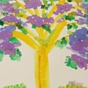 Lilac Lavender Tree Art Print