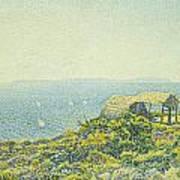 L'ile Du Levant Vu Du Cap Benat Art Print