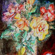 Lilies In Glass Art Print