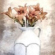 Lilies Pitcher Art Print