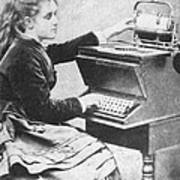 Lillian Sholes, The First Typist, 1872 Art Print