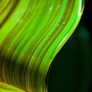 Lime Curl Art Print