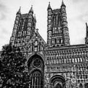Lincoln Cathedral Facade Art Print