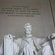 Lincoln Memorial - Enshrined Forever Art Print