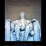Lincoln Memorial Art Print by Jim McDonald Photography