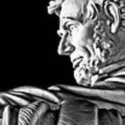 Lincoln Profile Art Print