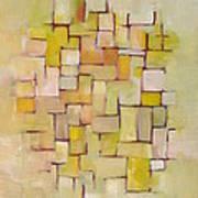 Line Series Yellow Basket Weave Art Print
