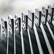 Lined Up Dominoes Print by Victor De Schwanberg